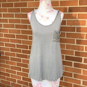 Gray tank top with hood